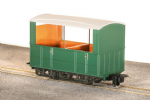 Peco GR-520UG GVT 4-wheel open side coach, plain green, OO-9